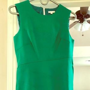Shoshanna emerald, fit and flare dress